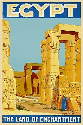 20x30 Philp /& Co 1930s Burns For Travel to Egypt Vintage Style Travel Poster