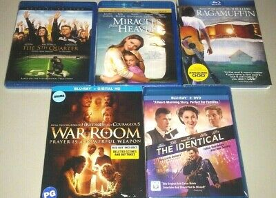 5 Faith-Based Blu-rays - Miracles From Heaven, War Room, 5th Quarter, Ragamuffin
