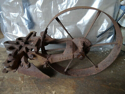 Early Vinatge Cast planet Jr Wheel Hoe with Cultivator.