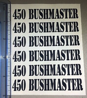 """All Colors! /""""5.45 X 39/"""" Sticker 6 Pack designed to go on side of magazines"""