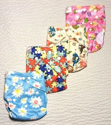 110 PIECE LOT **Charcoal Bamboo cloth Baby Diapers w/ Microfiber Bamboo inserts