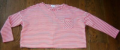 Witchery Girls Flared Red And White Striped Top  Sz 12