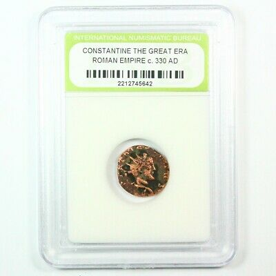 Slabbed Ancient Roman Constantine the Great Coin c. 330 AD Exact Coin Shown 6227