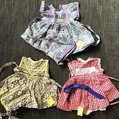 3 Pre 1966 Vintage Dolls Outfits Still With Original Myer Melbourne Store Tags