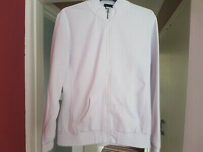 Ladies LA Gear white tracksuit top with zip. Size 18