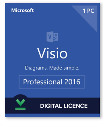 ✅ Microsoft Visio Professional 2016 License Key 1 PC +  Official Download Link ✅
