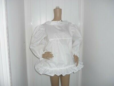 White Short Sissy Adult Baby Noisy Water Resistant  Frilly Dress  Cosplay Ab Cd