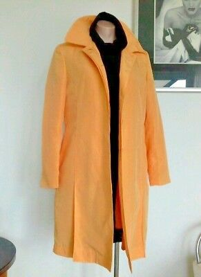 La Torre Yellow Trench Style Coat Jacket Fully Lined + Removeable Lining Size 14