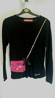 Stunning Desigual top with build in bag, very cute 12-13yrs VGC girls rrp 40.00