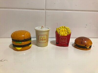 Vintage 1991 4 x McDonald  Changeables Happy Meal Toy Transformers FULL SET RARE
