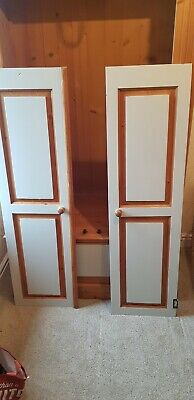 Pine Wardrobe, upcycled with grey paint. HINGES NEEDED