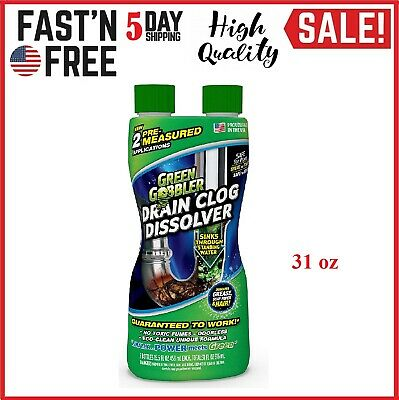DISSOLVE Liquid Hair & Grease Clog Remover Drain cleaner 15.5 FL. OZ, Pack of 2