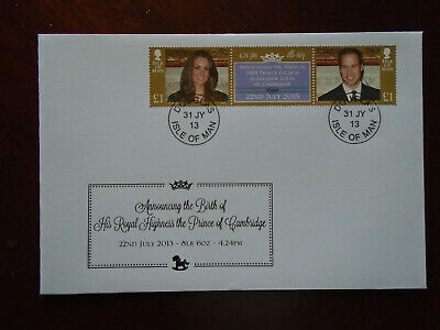 Isle of Man First Day Cover 2013 Prince of Cambridge birth