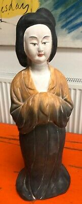 "Antique Chinese Tang dynasty style figure - 17"" tall"