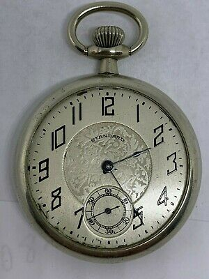 New York Standard 16s 7J circa 1894 pocket watch running