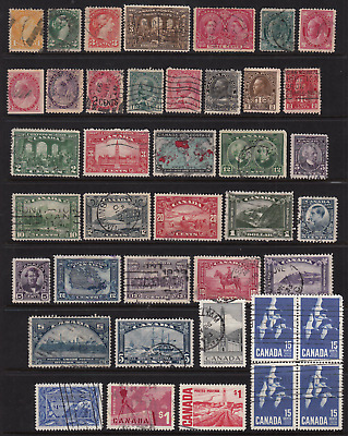 Canada Early Lot of Used Stamps  HICV