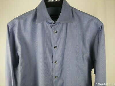 Men's medium GIORGIO ARMANI Black Label dress shirt spread collar Italy