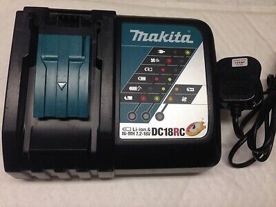 MAKITA Genuine 9 amp  DC18RC 7.2-18 volt fast battery charger with cooling fan