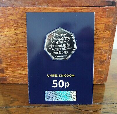 2020 BREXIT 50P FIFTY PENCE Brilliant Uncirculated Coin