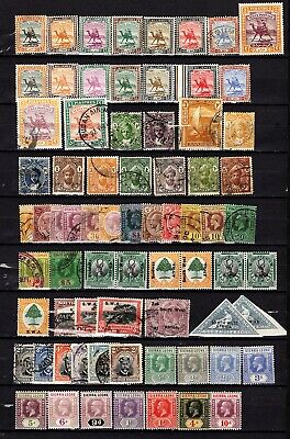 BRITISH COMMONWEALTH S-Z countries- 73 Old stamps on stock card. Good condition