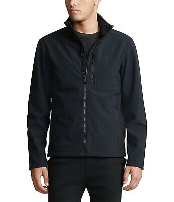 New Mens Polo Ralph Lauren Black Water Repellent Soft-Shell Jacket Large $168