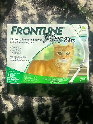 Frontline Plus Flea & Tick Treatment For Cats & Kittens 3 Doses