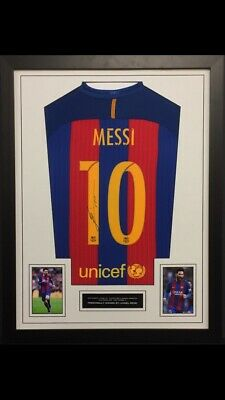 Lionel Messi Official Hand Signed Barcelona Football Shirt Autograph COA