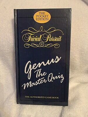 Vintage 1987 Trivial Pursuit Board Game Book Genus Master Quiz Edition Hardback