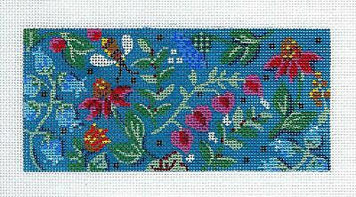 Lavender /& Blue Floral  handpainted Needlepoint Canvas  BB Insert by LEE