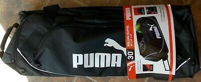 """PUMA 30"""" Rolling Duffel with Retractable Handle ~ NWT XL Main Compartment"""