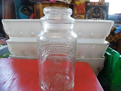 Vintage Planters Peanuts glass container jar with lid -75th Anniversary