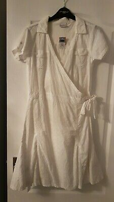 Girls white dress teenagers dress. Wrap over dress. Size 15 years. From Next.