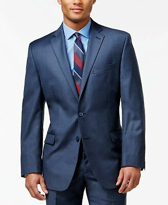$615 Calvin Klein Blue Men's Slim Fit 2 PC Suit WOOL 42R 36 x 30
