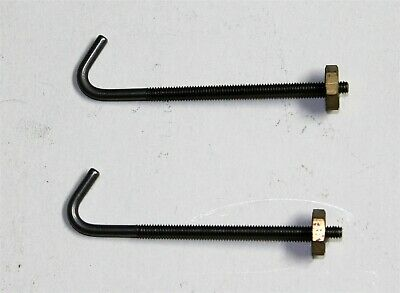 Pair of Small Size Seatboard Hooks for Antique Clocks w/ Brass Nut