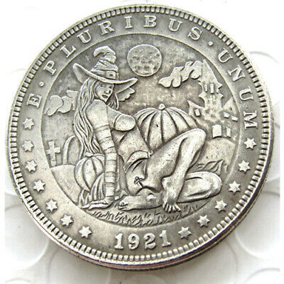 Hobo Nickel Coin1921 Morgan Dollar Silver Plated  Coins US COINS FREE SHIPPING