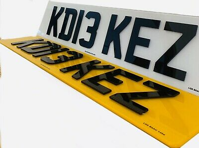 4D Number Plates Front & Rear 4D 3D Acrylic Laser Cut Raised 100% Road Legal