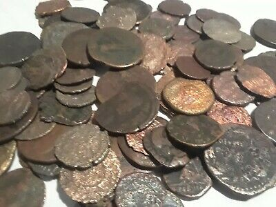 Authentic Bronze Roman Empire/Constantine Era Coins 50BC-400AD LOT OF 4