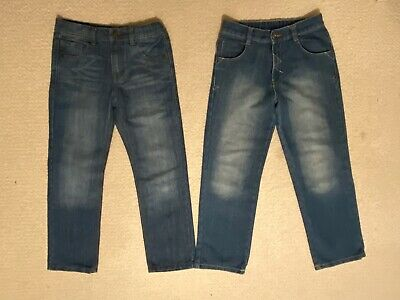 2 X Boys Blue Jeans. M&S Regular Fit & George. Age 9-10 Years VGC