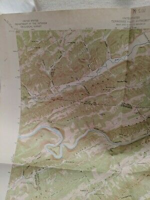 USC&GS,USGS,TVA Quadrangle Map Of Looney's Gap Tennessee 1947 Edition Revised...