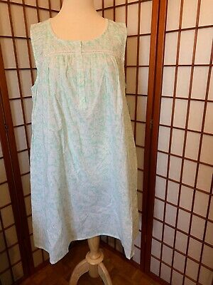 Croft & Barrow Classic Nightgown Mint Green Pineapple Print Size Med Nwt $32