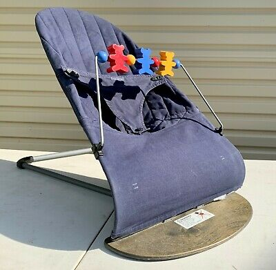 BABYBJORN Bouncer with wooden toy attachment - used in excellent condition