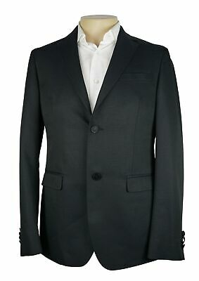 NWT Z Zegna Solid Charcoal Black Drop 8 Deco Jacket Wool NEW Size 38 R