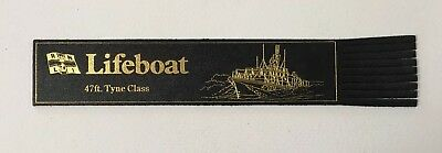 Vintage leather bookmark Souvenir RNLI Swanage Lifeboats