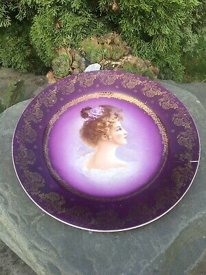 Royal Vienna  Porcelain Cabinet Plate of a Portrait, beehive mark