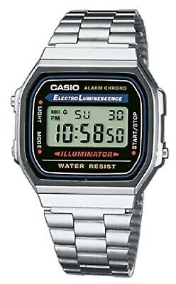 NEW Casio Retro Mens Electro Luminescence Stainless Steel Wrist Watch FREE SHIP