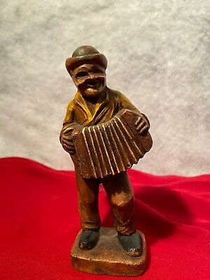 Hand Carved Swedish Wooden Man With Xylophone