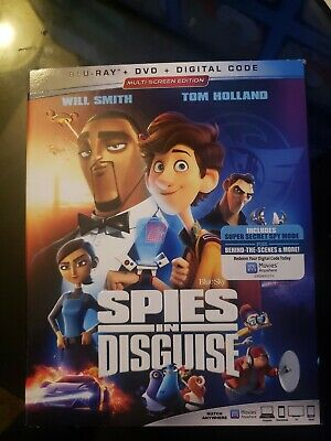 Spies In Disguise (Blu-ray + DVD + Digital) New - Includes Slipcover