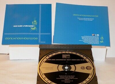 God Lives Underwater - Dont Know How To Be -  Promo Only CD Single (PRO-CD-8156)