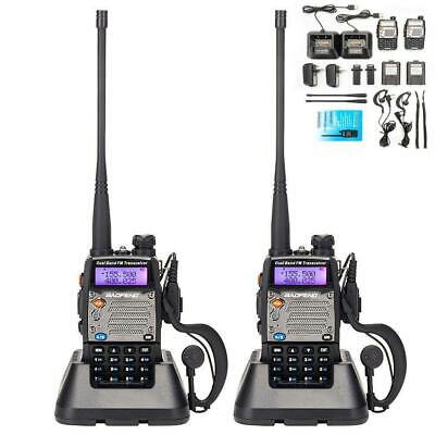 2 x Baofeng UV-5XP 8W Walkie Talkie UHF VHF FM Two Way Radio Scanner Transceiver