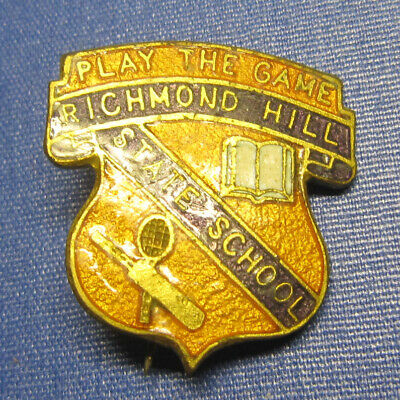 Richmond Hill State School Play The Game Enamel Badge by W Bishop Factory Bris